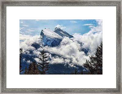 Framed Print featuring the photograph Her Majesty - Canada's Mount Rundle by Dyle   Warren
