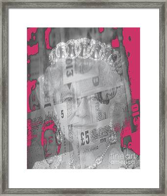 Her Majesty Queen Elisabeth Framed Print by PainterArtist FIN