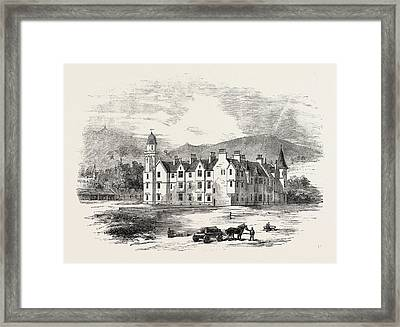 Her Majestys New Castle Of Balmoral From The North-east Framed Print by English School