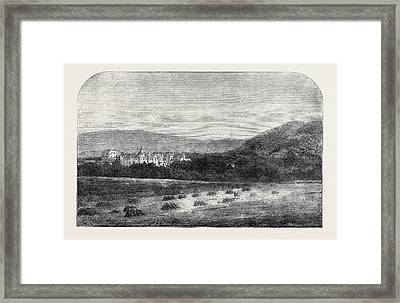 Her Majestys Palace At Balmoral Framed Print by English School