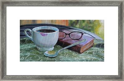 Her Morning Coffee Framed Print