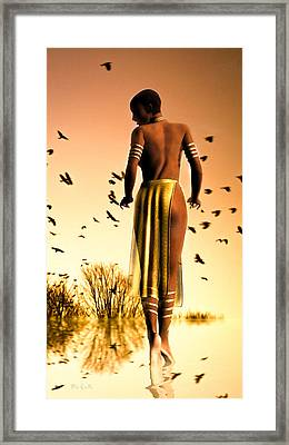 Her Morning Walk Framed Print by Bob Orsillo