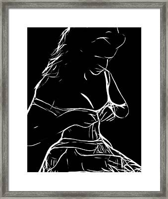 Her New Dress Framed Print by Steve K