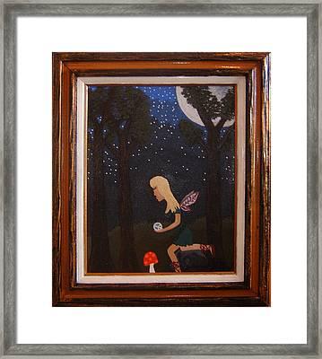Her Night Light  Framed Print by Yvonne  Kroupa