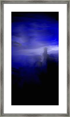 Framed Print featuring the digital art Her Overlook by Jessica Wright