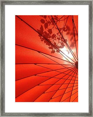Her Red Parasol Framed Print