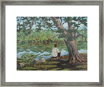 Her Reflections Framed Print