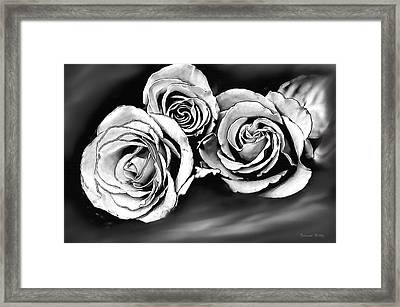 Her Roses Framed Print by Bonnie Willis