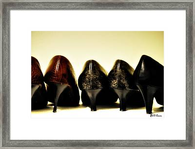 Her Shoes Framed Print by Bill Cannon