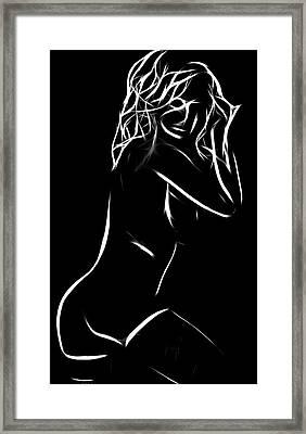 Her Smile Framed Print by Steve K