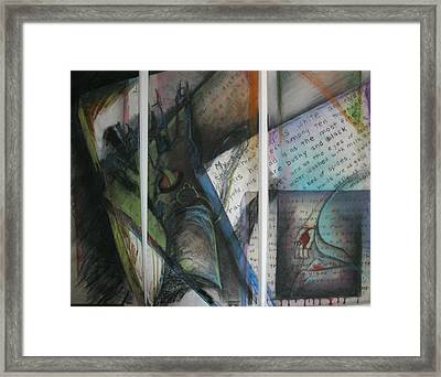 Framed Print featuring the mixed media Her Song by Carrie Maurer