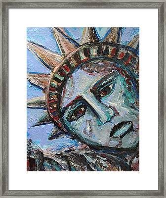 Framed Print featuring the painting Her Tear by Mary Schiros