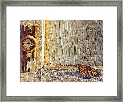 Her Wings Were Kissed By The Sun Framed Print by Greg and Linda Halom
