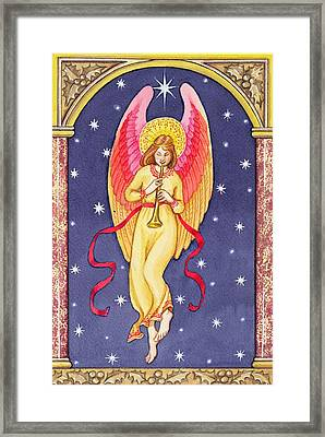 Herald Angel Framed Print by Lavinia Hamer