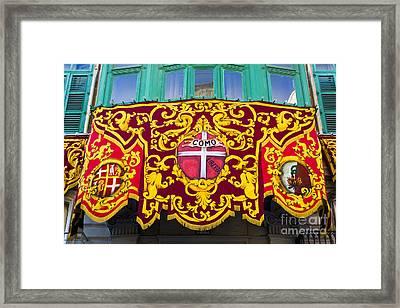 Heraldic Banner, Malta Framed Print by Tim Holt
