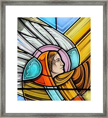 Heralding Angel Framed Print by Gilroy Stained Glass