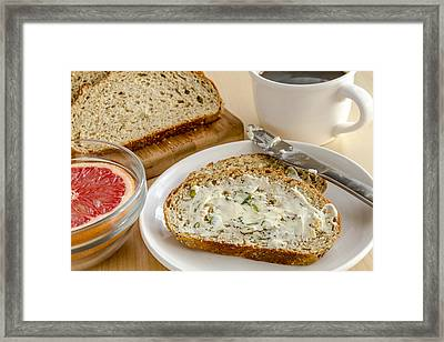 Herb Butter And Whole Grain Bread Framed Print by Teri Virbickis