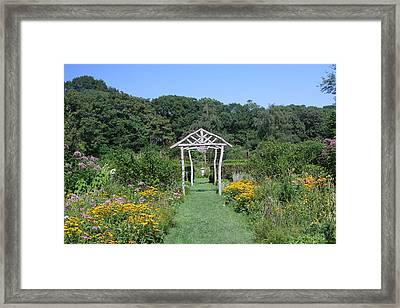 Framed Print featuring the photograph Herb Garden by Karen Silvestri