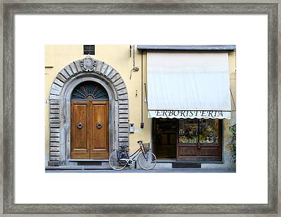 Herbalist Shop Lucca Tuscany Framed Print