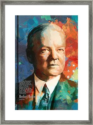 Herbert Hoover Framed Print by Corporate Art Task Force