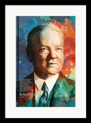 Herbert Hoover Framed Prints