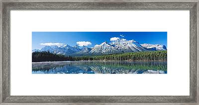 Herbert Lake Banff National Park Canada Framed Print by Panoramic Images