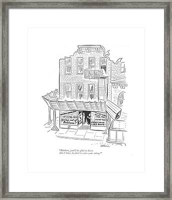 Herbert, You'll Be Glad To Know That Framed Print