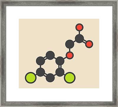 Herbicide Molecule Framed Print by Molekuul