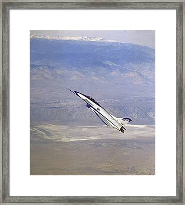 Herbst Manoeuvre By X-31 Aircraft Framed Print by Nasa