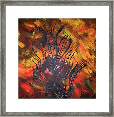 Framed Print featuring the painting Herbst by Nico Bielow