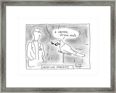 Hercule Parrot Framed Print by Arnie Levin