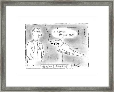 Hercule Parrot Framed Print