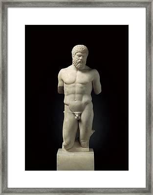 Hercules. 5th C. Bc. Roman Copy. Greek Framed Print by Everett