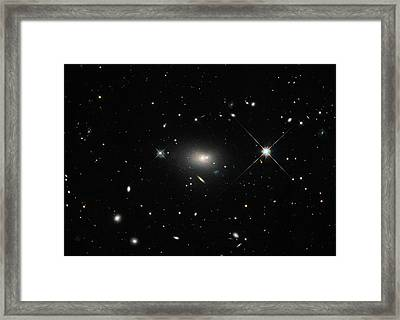 Hercules A Galaxy Framed Print by Nasa, Esa, S. Baum And C. O'dea (rit), And The Hubble Heritage Team (stsci/aura)