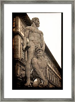 Hercules And Caucus In Florence Framed Print