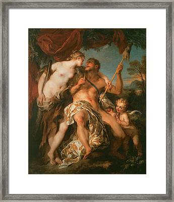 Hercules And Omphale Framed Print by Francois Le Moyne