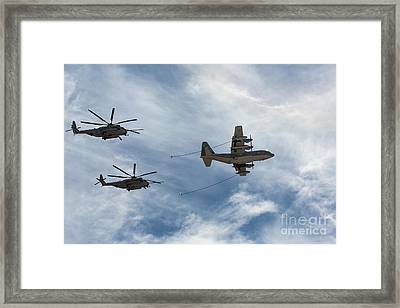 Hercules And Sea Stallions Framed Print