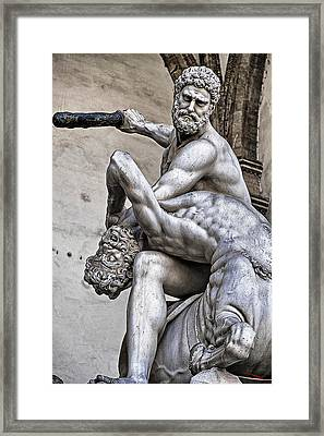 Hercules Killing The Centaur Framed Print
