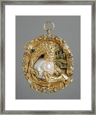 Hercules Pendant Unknown Maker, French Paris Framed Print by Litz Collection