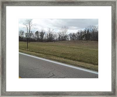 Framed Print featuring the photograph Herd Of Deer On Hill by Eric Switzer