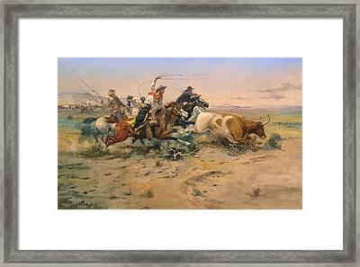 Herd Quit Framed Print by Charles Russell