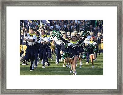 Here Come The Irish Framed Print
