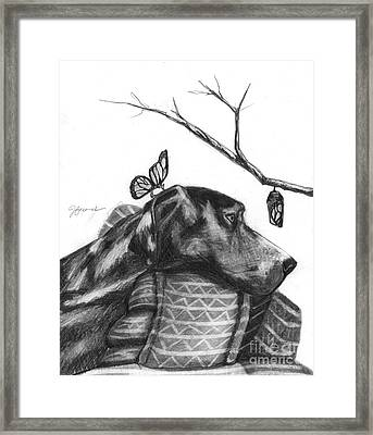 Framed Print featuring the drawing Here Comes Life by J Ferwerda