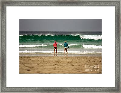 Framed Print featuring the photograph Here Comes The Big One by Terri Waters