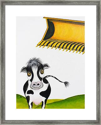 Here Comes The Bulldozer Framed Print