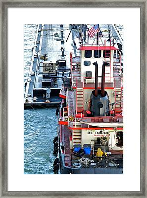 Here Comes The Diesel Fuel For The Ship Framed Print