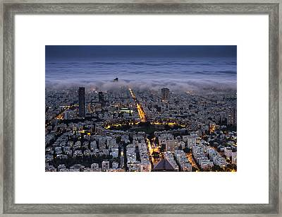 Framed Print featuring the photograph Here Comes The Fog  by Ron Shoshani