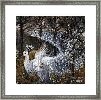 Here Comes The Mist Framed Print by Angel  Tarantella