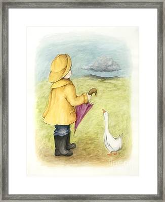 Here Comes The Rain Framed Print by Diane Smith