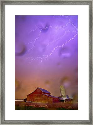Here Comes The Rain Framed Print